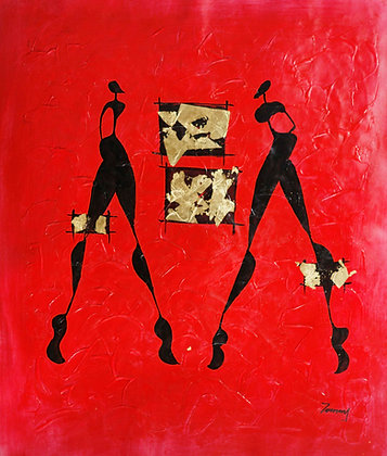 African Dancing Ladies Red