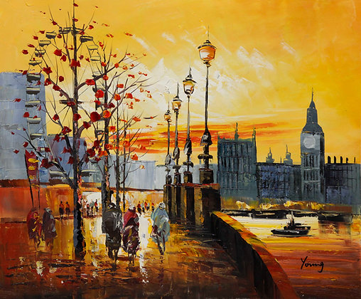 Sunset walk to Westminster