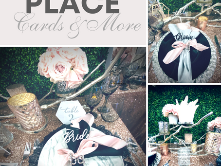 Speciality Place-cards, Table Signs and Menus
