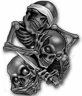 Hear No Evil , See No Evil , Speak No Evil Skeletons