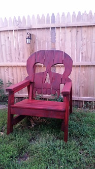 Skull Chair with stain