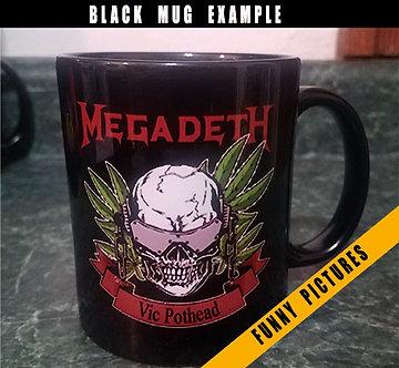 Design Your Own Black Coffee Mug