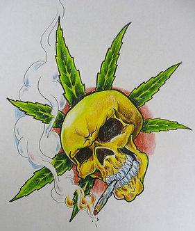 Smoking Skull
