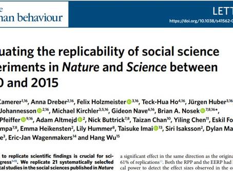 O Social Sciences Replication Project e a nossa oportunidade