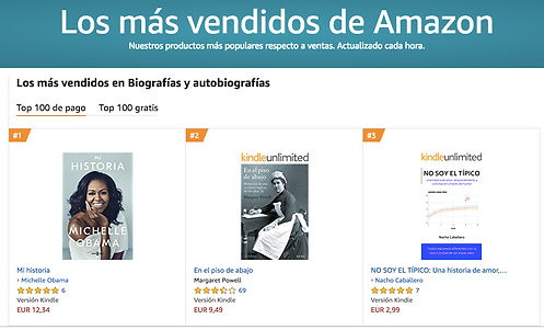 Libro más vendido en Amazon. Nacho Caballero