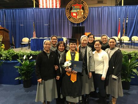 Happy Graduation to Sr. Eileen Thu Phượng, CMR!