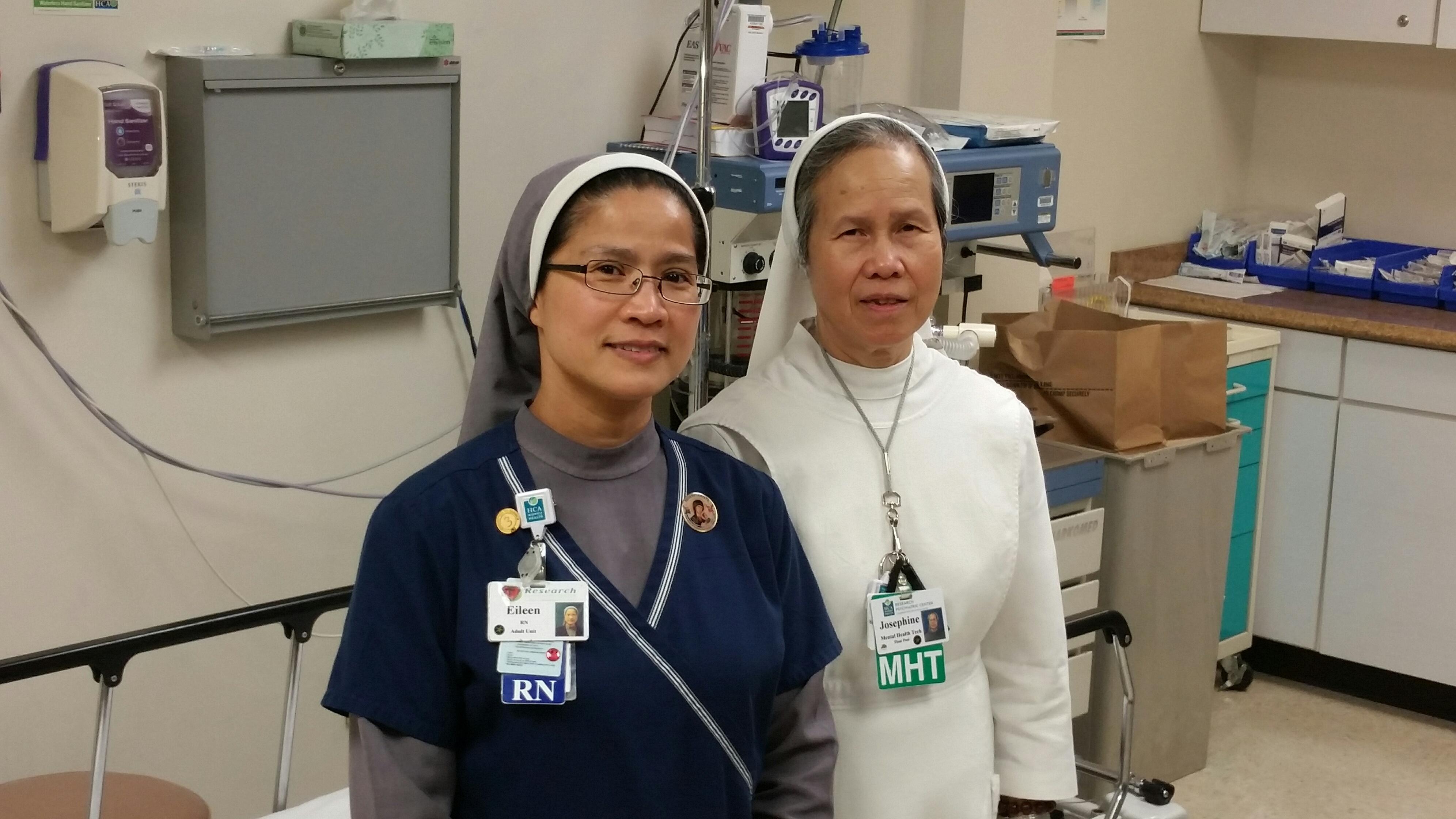 Srs.Josephine & Eileen in ministy