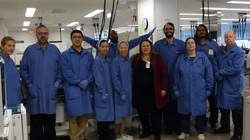 Sr. Veronica in the lab