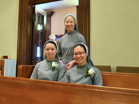 Sr. Theresa Ni's Perpetual Profession and Sr. Emeline Thuy Third Profession of Vows Mass