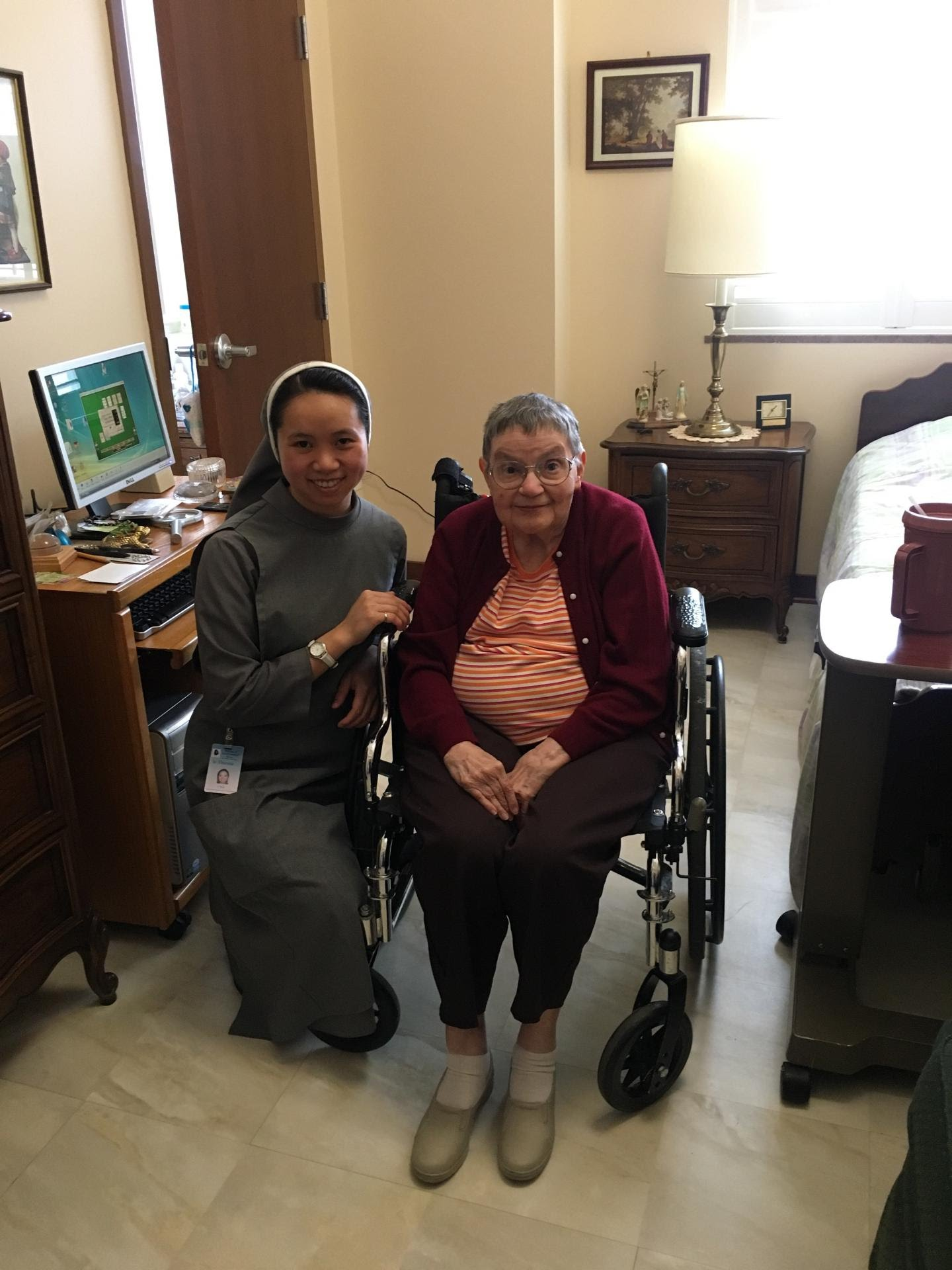 Sr. Theresa with patient