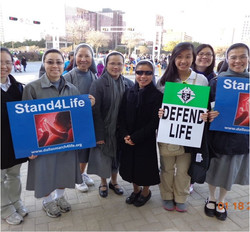CMR Sisters marching for Life