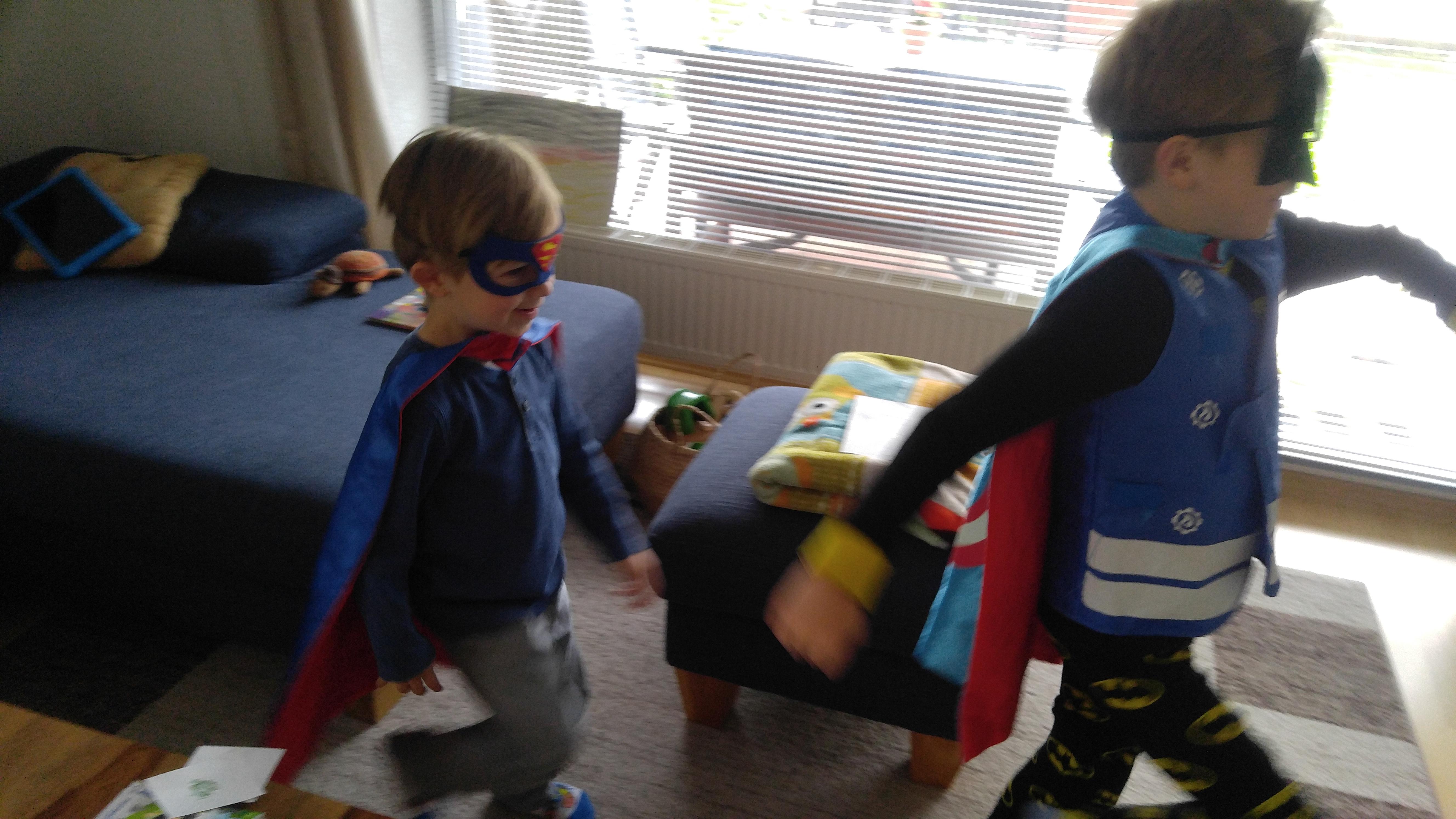 Superhelden bei der Arbeit