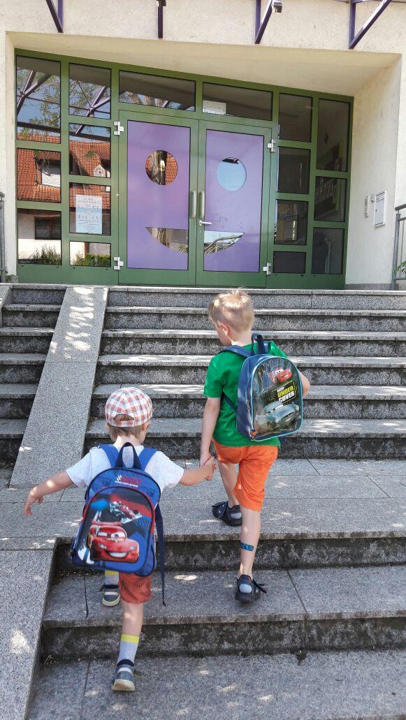 Erster Tag im Kindergarten