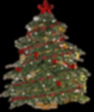 decorated xmas tree