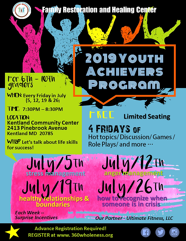 FRHC-2019 Youth Achievers Program-4 Week
