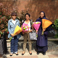 Stratford Helpers are given flowers.jpg