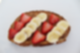 almond butter banana toast with strawberries