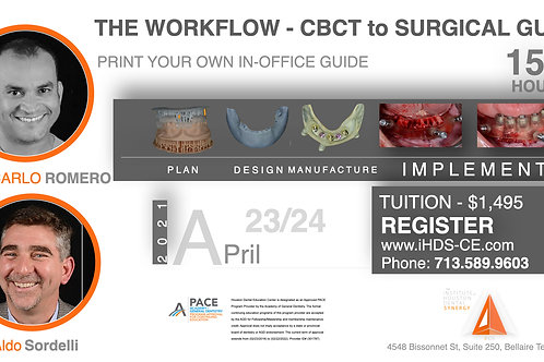 The Workflow- CBCT to Surgical Guide