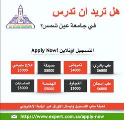 أدرس في جامعة عين شمس