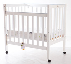Compact Cot - Side down | White