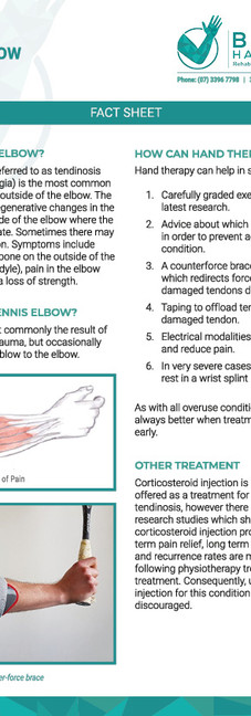 Bayside Hand Therapy | Info Sheet