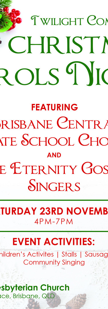 St Paul's Presbyterian Church | Christmas Carol Poster