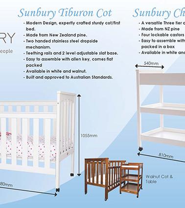 Sunbury Furniture | Cot Advert