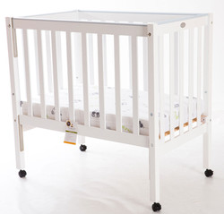 Compact Cot - Side Up | White