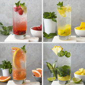 Fruity Mojitos 4 Ways
