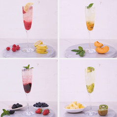Fresh and Fruity Champagne Cocktails