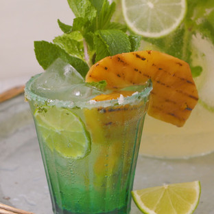 Lime & Grilled Pineapple Mojito