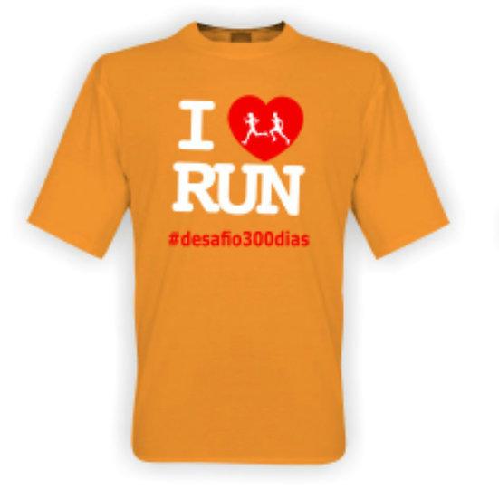 Camisa Laranja - I Love Run