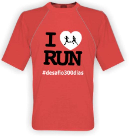 Camisa coral - I Love Run