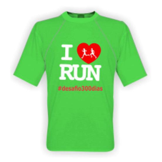 Camisa verde - I Love Run