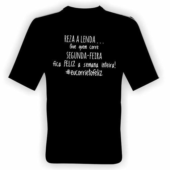 #Rezaalenda - Camisa preta em poliamida