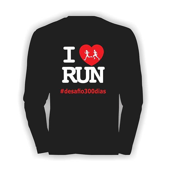 Camisa Preta manga longa - I Love Run