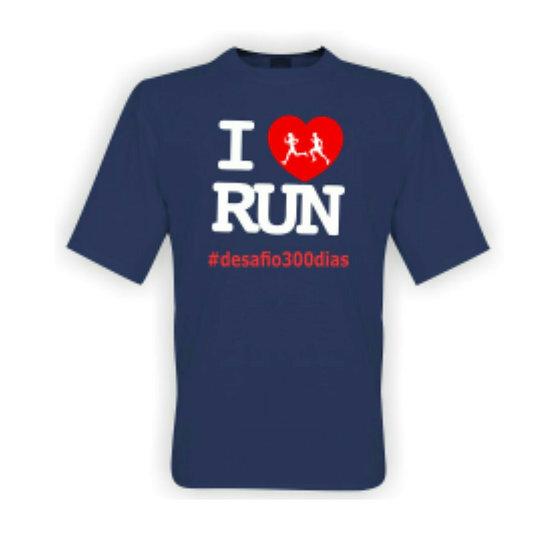 Camisa Azul - I Love Run