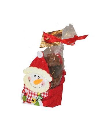 Bonhomme en feutrine avec chocolat