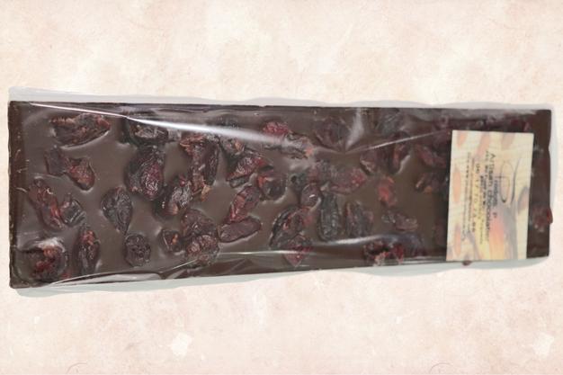 Tablette crumberry au chocoalt noir