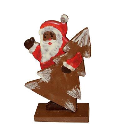 Père Noël avec son sapin