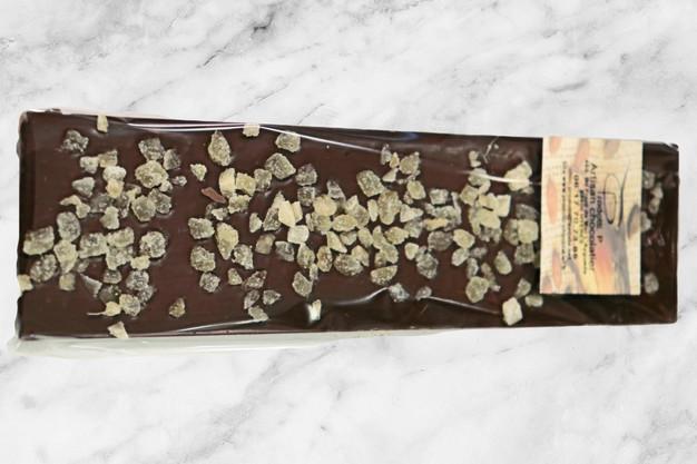 Tablette de chocolat noir au gingembre confit