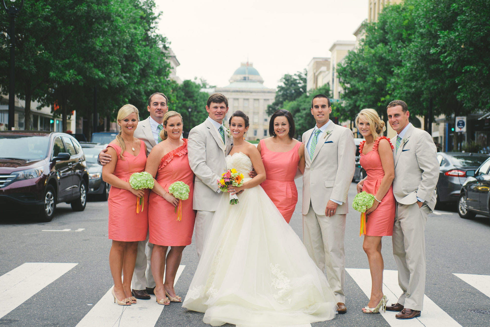 wedding party on Fayetteville street