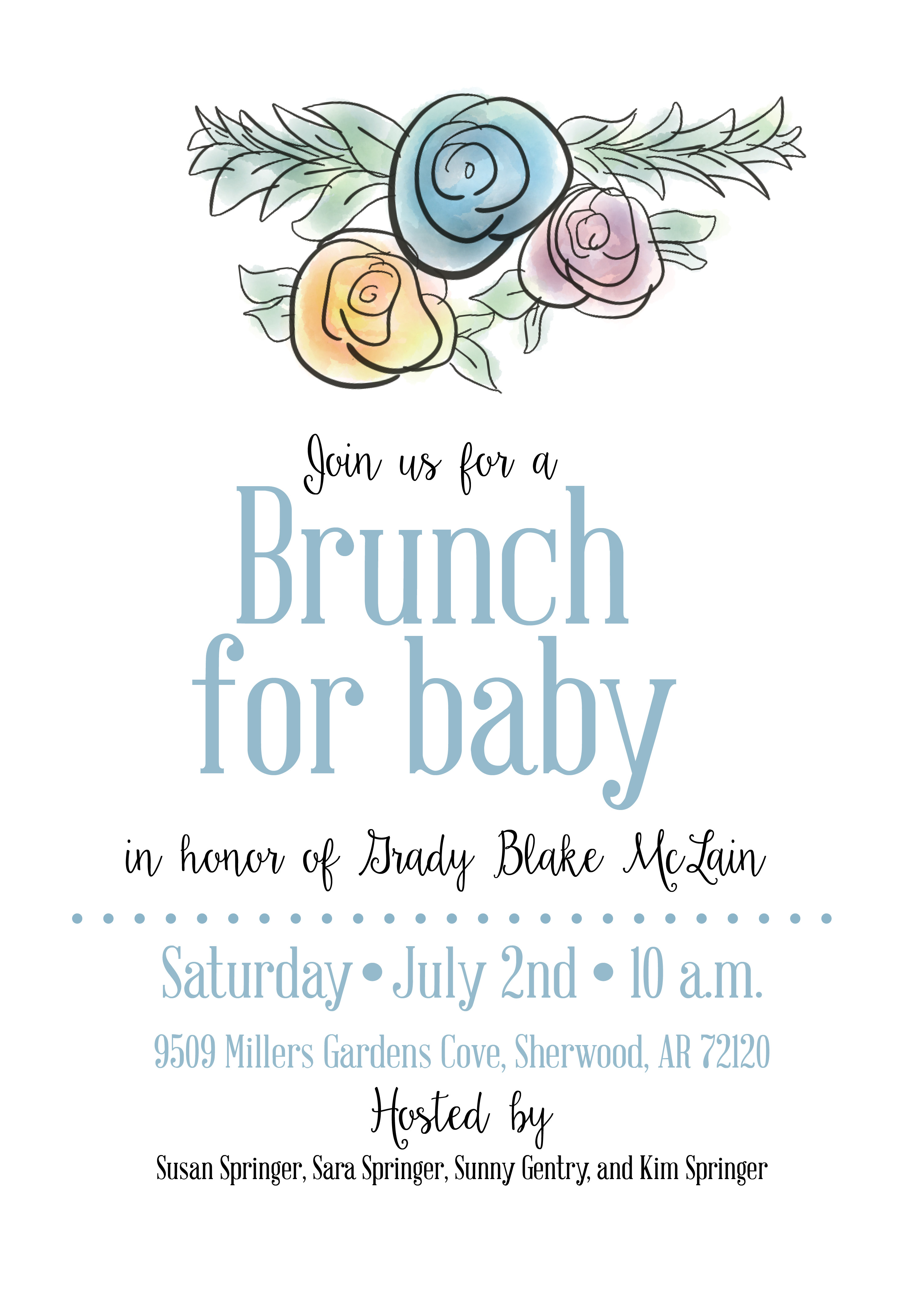 Susan Springer baby brunch