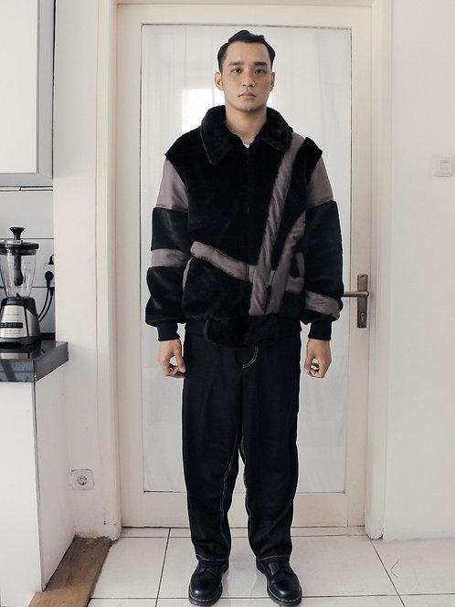 Deconstructed Faux Fur Jacket