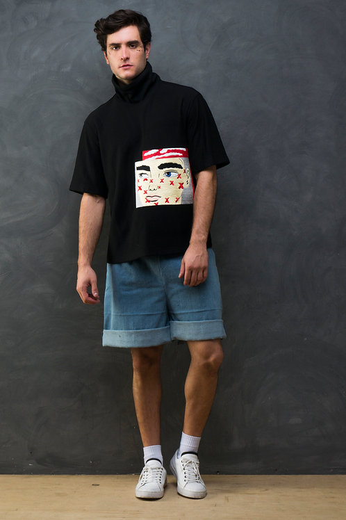 Mural Hand Embroidered Oversized T-shirt
