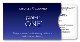 Charles and Colvard Warranty Card Moissanite Gemstone Replacement