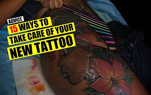 15 WAYS TO TAKE CARE OF YOUR NEW TATTOO