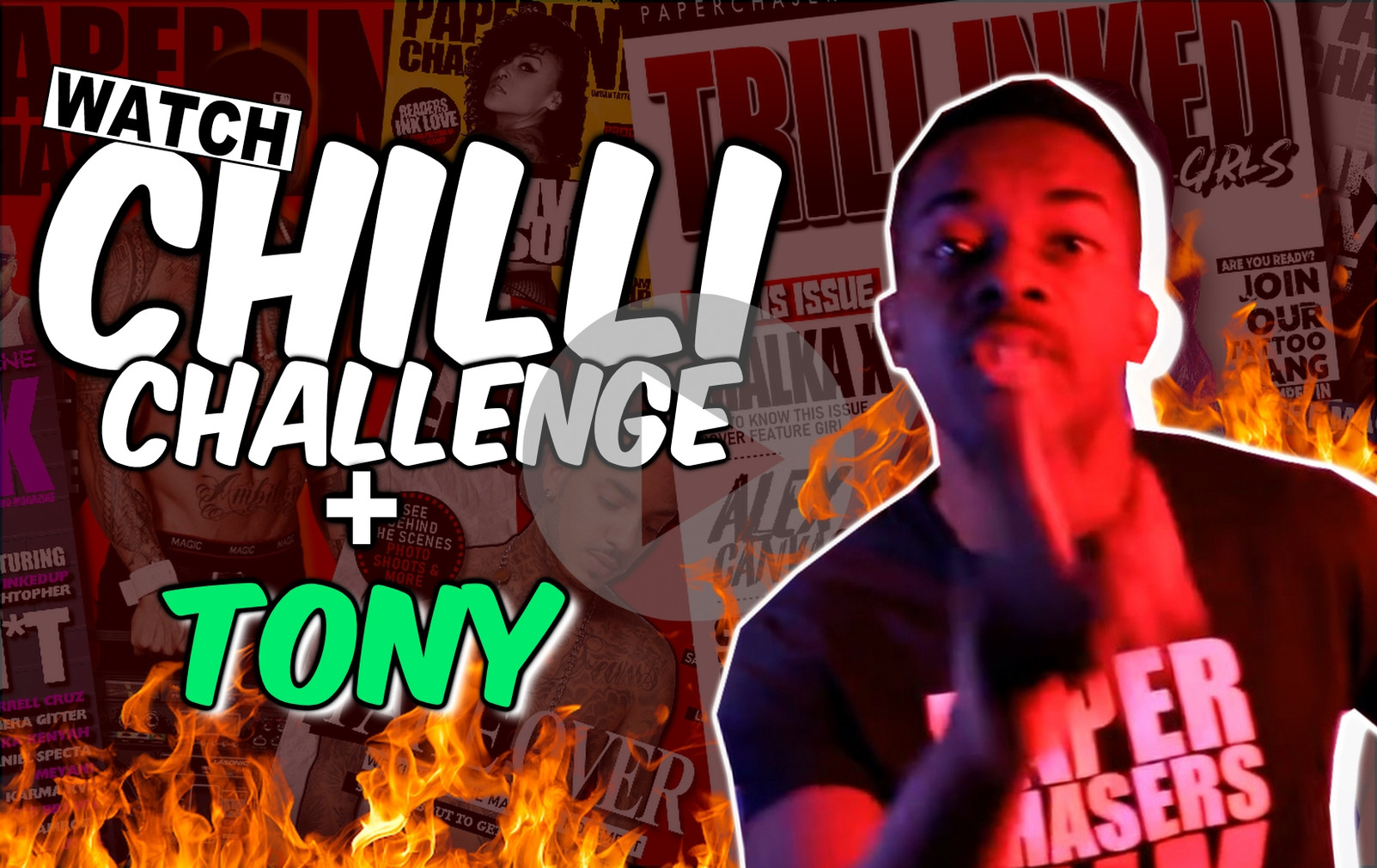 WATCH : GHOST CHILLI TATTOO CHALLENGE | TONY