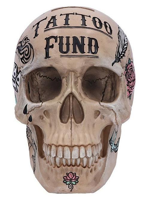 Natural Bone Tribal Tattoo Fund Skull Money Box