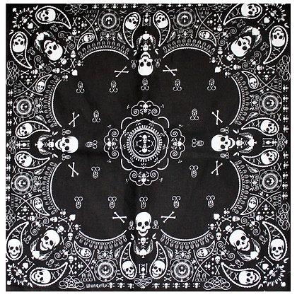 Mini Skull Bandanas- Black